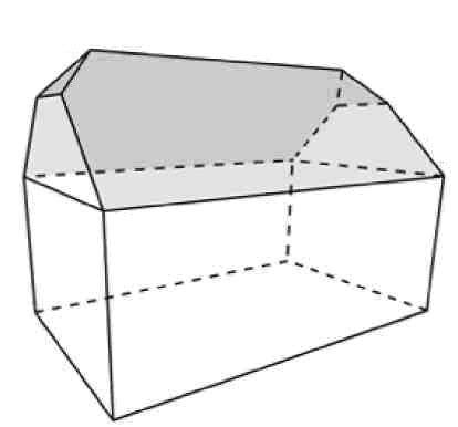 Двухскатная вальмовая крыша (Hipped Gable Roof)